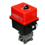 Industrial ball valves with electric actuator
