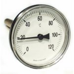 Thermometer stainless steel 1/2