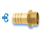 Swivel coupling with external thread for hose connection Brass