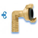 GEKA Plus Coupling Brass Standard with jointed hose nozzle 90° turnable