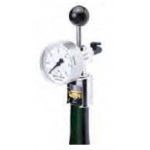 Bottle pressure gauge with drain tap