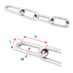 DIN 763 stainless steel chains with long limbs