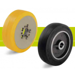 Truck wheels, drive and running wheels for forklift trucks