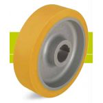 Heavy duty drive wheels with hub keyway, polyurethane tread Extrathane and cast iron wheel center
