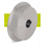 Flanged driving wheels of solid steel with keyway