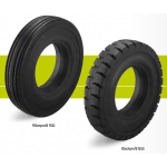 Super-elastic solid rubber tires