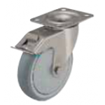 Stainless steel caster with brake LEX-TPA