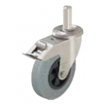 Stainless steel swivel pin and brake