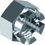 Stainless steel crown nuts DIN 935