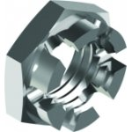 Stainless steel crown nuts low form DIN 937