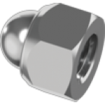 Self-locking hexagon cap nut DIN 986
