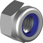 Stainless steel self-locking nuts with plastic insert