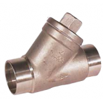 Stainless steel angle seat check valve with weld ends