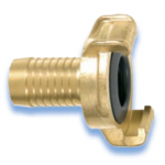 GEKA Plus Coupling Brass Standard with  hose nozzle