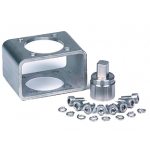 Butterfly valve mounting kit for rotary actuators